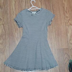 Mini Black and White Dress